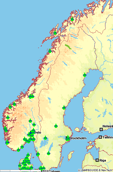 Verzeichnis Autogastankstellen Norwegen / LPG-Refuelling ...